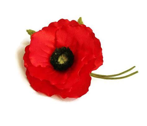 memorial poppy flower red poppy pin cotton brooch 2nd wedding anniversary gift fabric poppy cotton flower