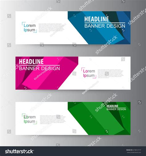 geometric design website templates entheos abstract geometric vector web banner design 스톡 벡터 Abstract