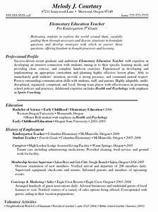 CV for teachers chers resumes