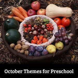 Preschool October Theme Ideas