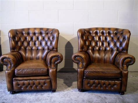 Monk's Chesterfield High Back Wing Back Chairs 00 With