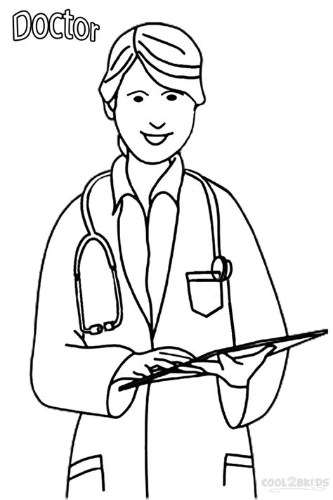11418 community helpers clipart black and white doctor coloring pages to and print for free