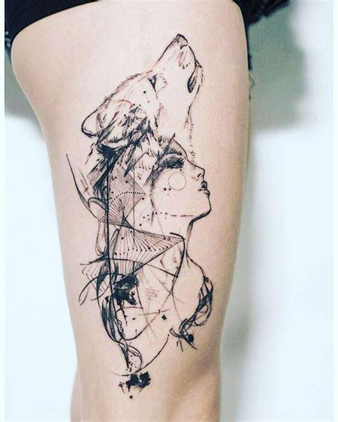 Wolf Tattoo Designs Girls