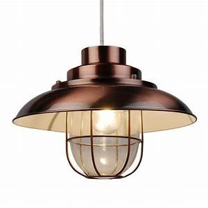 Vintage, Copper, Finish, Metal, Fishermans, Cage, Ceiling, Pendant, Light, Lamp, Shades, 714084884622