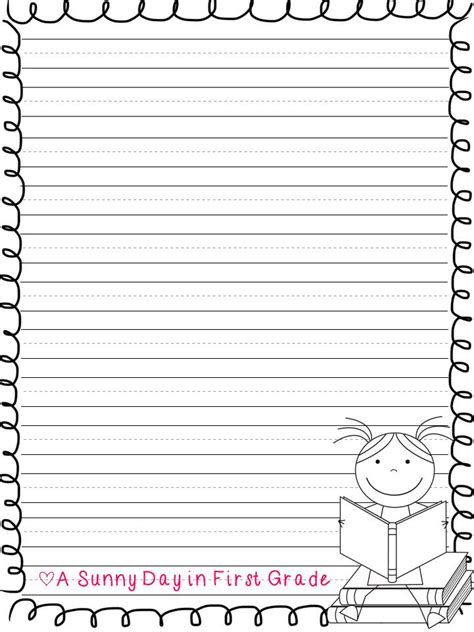 grade handwriting paper printable