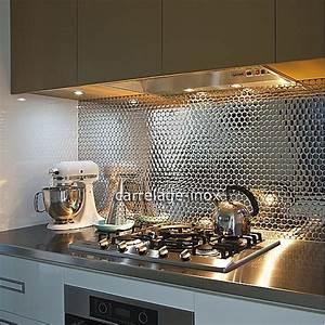credence cuisine inox miroir mosaique salle de bain With credence verre salle de bain