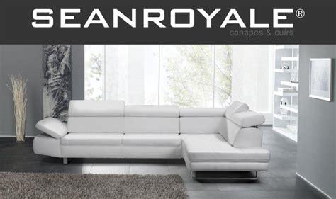 canapé de salon canape cuir blanc design seanroyale bandibandi de