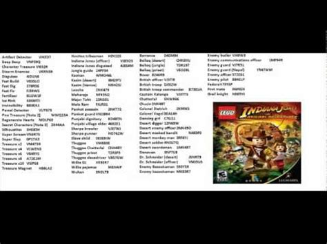 Lego Indiana Jones The Original Adventures Pc Cheat Codes