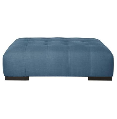 Incorporate a rectangular ottoman into your living room to make a sleek, modern statement and ottoman coffee tables are the ideal addition to your modern living space. Cisco Brothers Arden Modern Classic Tufted Federal Blue Rectangle Coffee Table Ottoman | Coffee ...