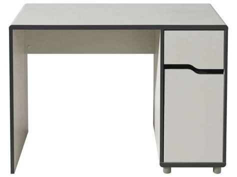 table de bureau conforama bureau 1 porte 1 tiroir moby coloris blanc gris vente