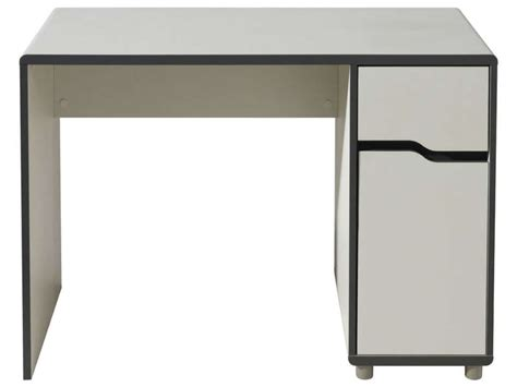 bureau conforama blanc bureau 1 porte 1 tiroir moby coloris blanc gris vente