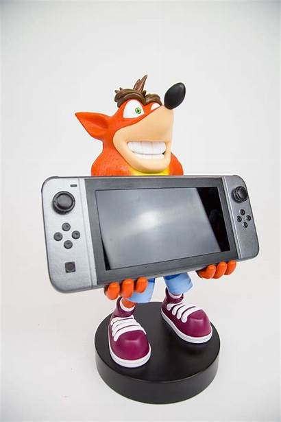 Crash Bandicoot Switch Nintendo Statue Hold Accessory