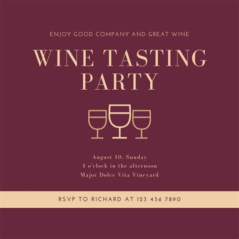 customize  wine tasting invitation templates  canva
