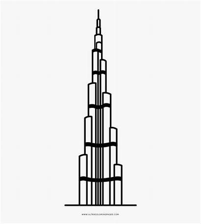 Burj Khalifa Drawing Easy Clipart Clipartkey