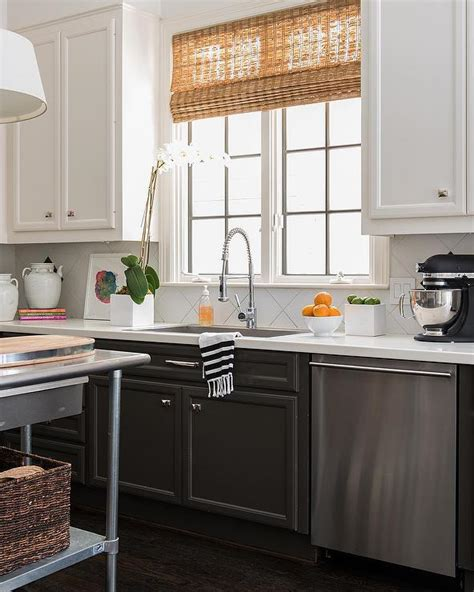white lower kitchen cabinets tuxedo cabinets with white uppers and black lowers