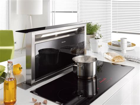 kitchen island extractor hoods another extraction solution for kitchen islands is the miele da6890 levantar cooker hood seen