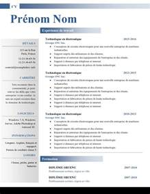 resume or curriculum vitae mod 232 les de cv word 879 224 885 exemple de cv info