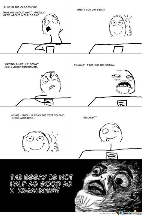Memes About Writing Papers - writing an essay by volle meme center