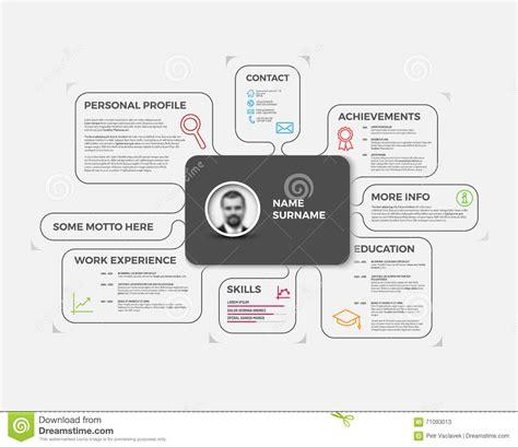 vector original creative cv resume template vector