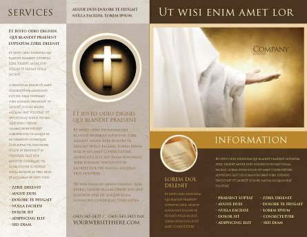st family religion brochure template design  layout