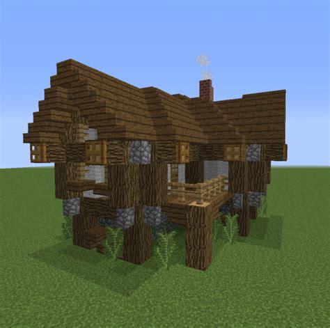 medium village rustic house  blueprints  minecraft houses castles towers