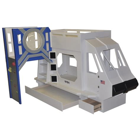 space bunk beds space shuttle theme bunk bed