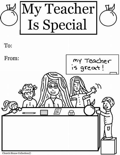 Teacher Coloring Pages Appreciation Special Printable Teachers