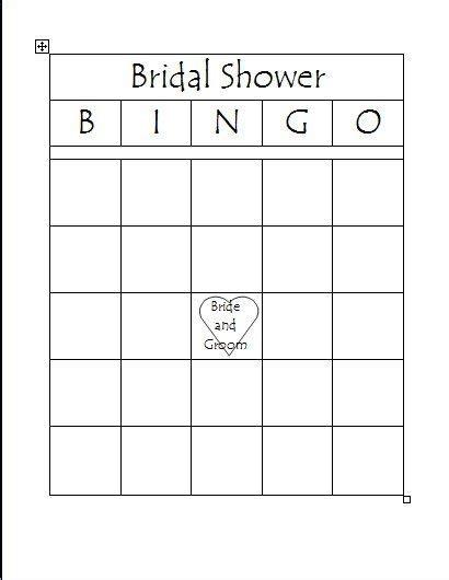 bridal shower bingo template bridal bingo template peerpex