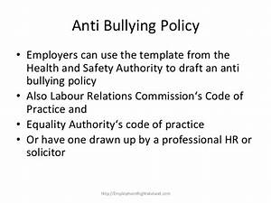 Anti Discrimination Policy Template Bullying In The Irish Workplace How To Deal With Bullying