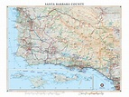 Santa Barbara County Wall Map — Benchmark Maps