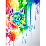 Rainbow Wolf Commission by Lucky978 on DeviantArt
