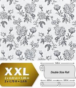 Papier Peint Rose Et Gris : papier peint fleurs xxl intiss edem 687 96 motif floral ~ Dailycaller-alerts.com Idées de Décoration