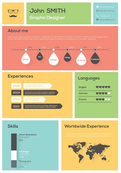 Visual Resume Creator by How To Create And Use An Infographic Resume Career