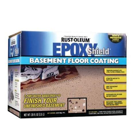 rust oleum epoxy shield  gal basement gray floor coating