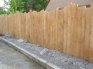 Faire Une Cloture En Bois : palissade bois jardin cloture panneau exoteck ~ Dallasstarsshop.com Idées de Décoration