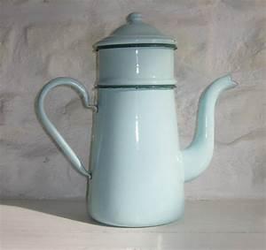 Cafetiere A L Ancienne : ancienne cafeti re maill e de couleur bleu vert c ladon ~ Premium-room.com Idées de Décoration