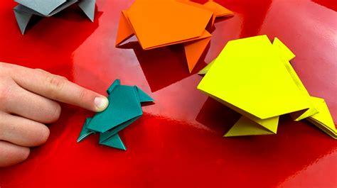 fold  origami jumping frog art  kids hub