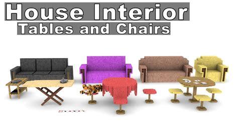 Minecraft House Interior Furniture Model Pack