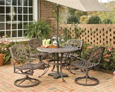 home styles biscayne 5 patio dining set with 42 inch