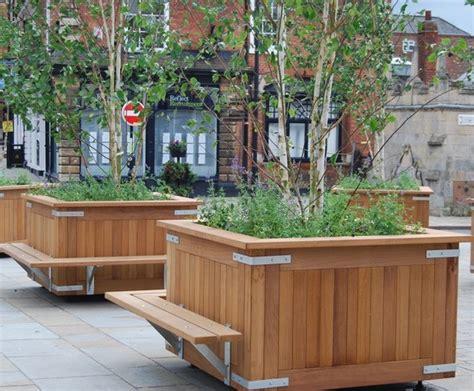 kensington timber planter street design esi external works