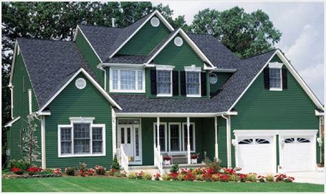 awesome cool exterior house paint green denun green