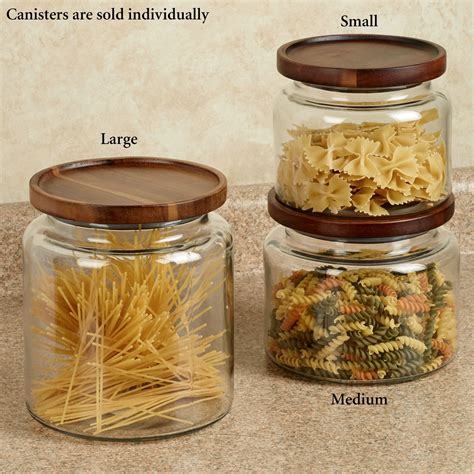 glass kitchen canisters calvina stackable glass kitchen canisters