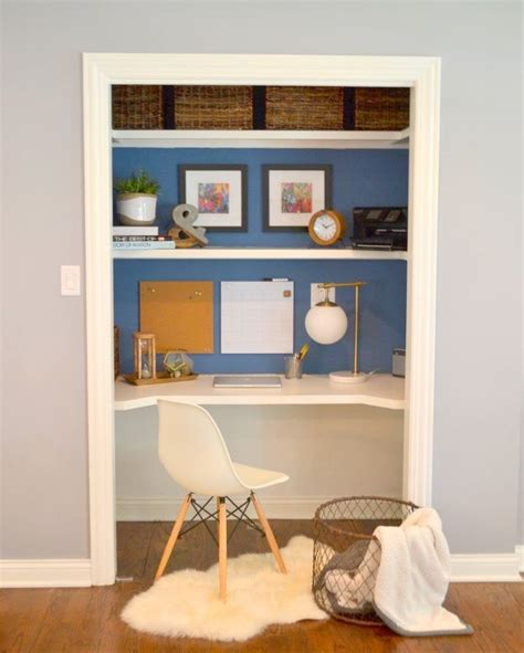 desk in a closet quot closet desk quot makeover hometalk