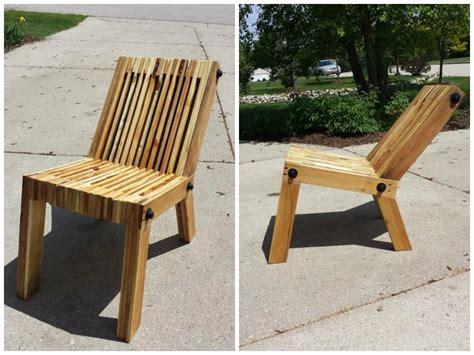 chaise palette modele de chaise en palette