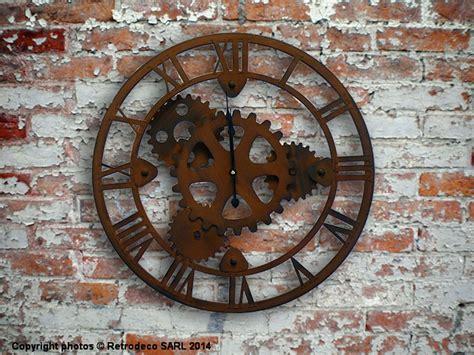 la cuisine mexicaine horloge engrenages déco industrielle antic line seb12437
