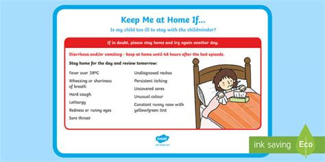 * New * Childminder Keep Me At Home If… Poster Paperwork