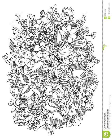 vector illustration  flowers zentangle doodle zenart