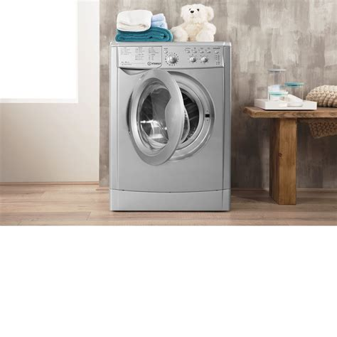 Indesit Ecotime Iwdc 6125 S Washer Dryer In Silver Iwdc