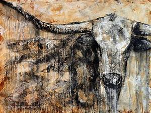 Bad Attitude Texas Longhorn Contemporary Painting Painting