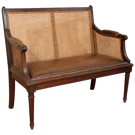 canapé style louis xvi louis xvi style walnut caned back canape at 1stdibs
